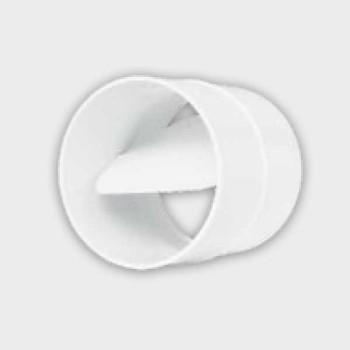 Łącznik kanałów okrągłych z przepustnicą D/ŁOP
