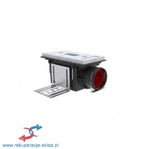 Skrzynka rozprężna CLD-P 90 z płytą dystansową, wys. 115 mm, DN 90